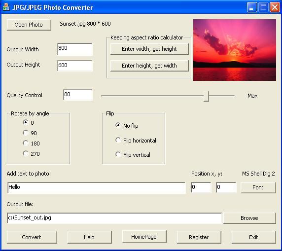 JPG/JPEG Photo Converter - convert Photo to jpg file